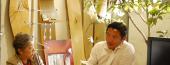 オルガニスト岩崎真実子さんと、ピーエス株式会社取締役社長 平山武久氏